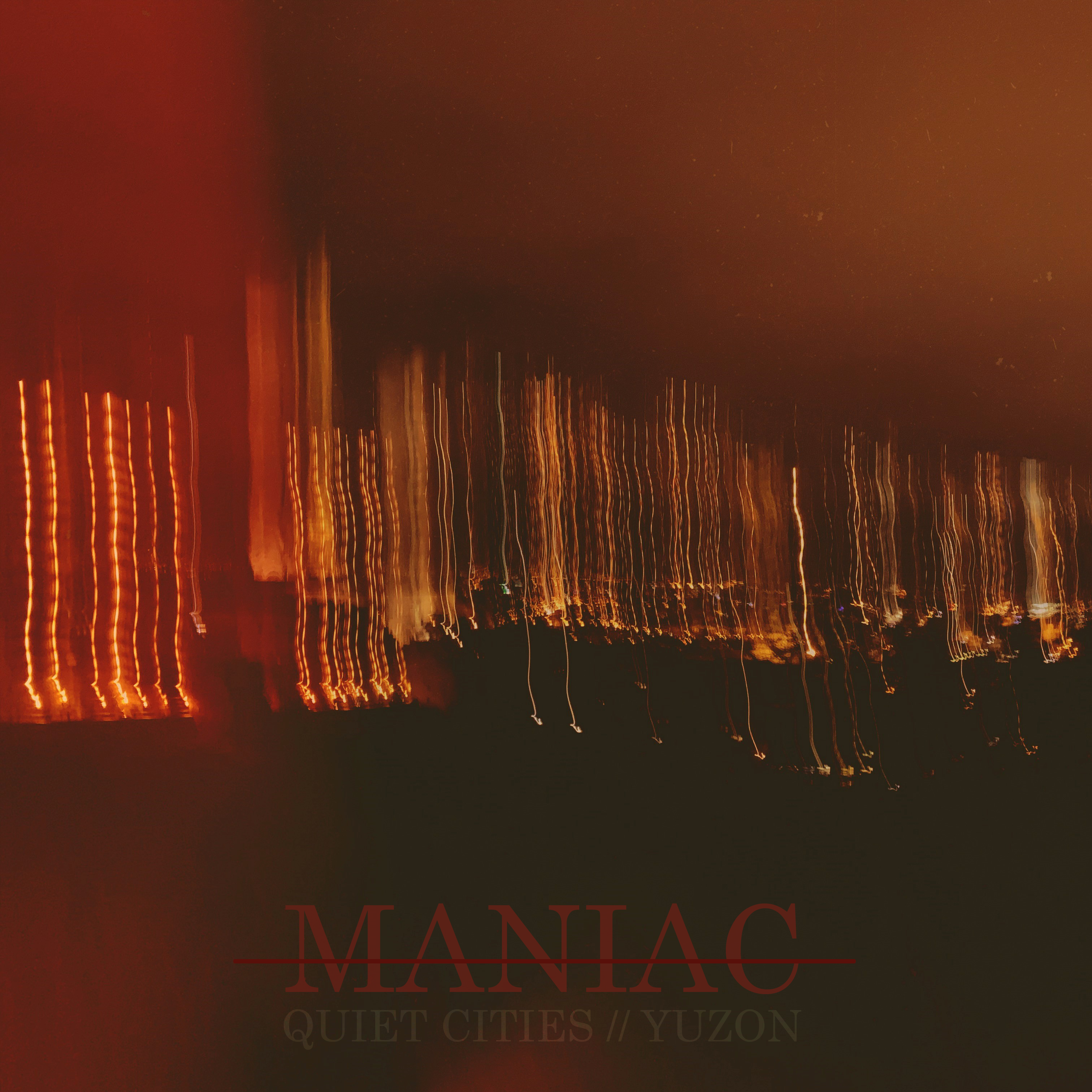 Maniac album art strikethrough