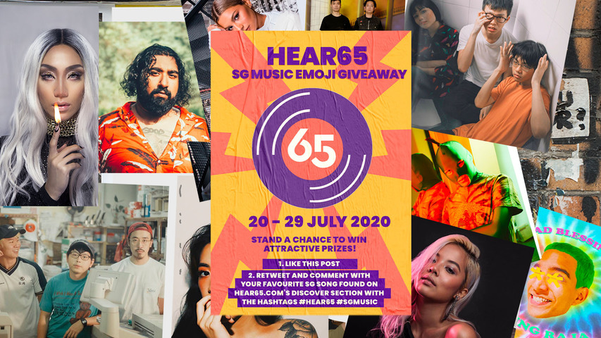 Share your favourite SG song and stand to win prizes in the Hear65 SG Music Twitter Emoji giveaway