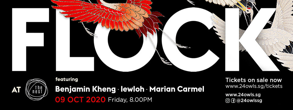 'Flock at the Nest' online music event presents original music showcase featuring Benjamin Kheng, Marian Carmel, and lewloh