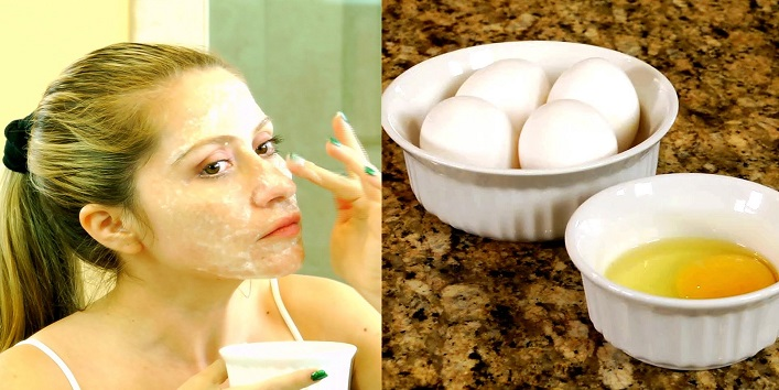 Egg white and vitamin E face mask