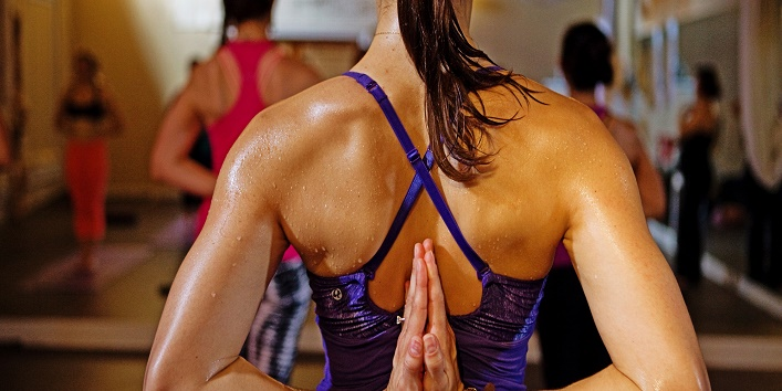 Try out hot yoga