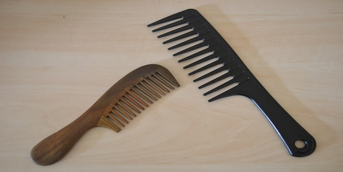 Use-wide-tooth-comb