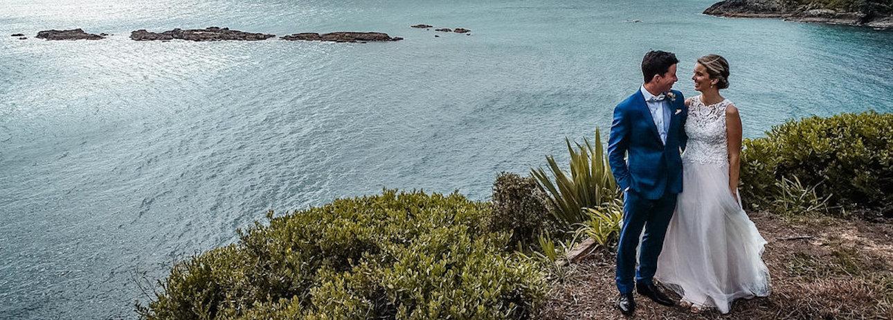 Drone wedding photos waiheke island up up 1