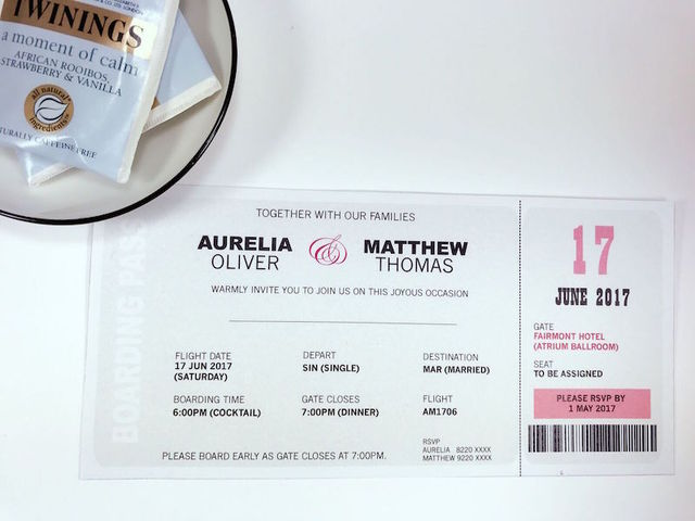 Wedding Invitations - Boarding Pass