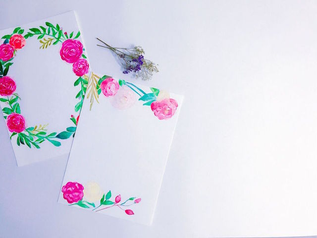 Wedding Invitations - Flower Design