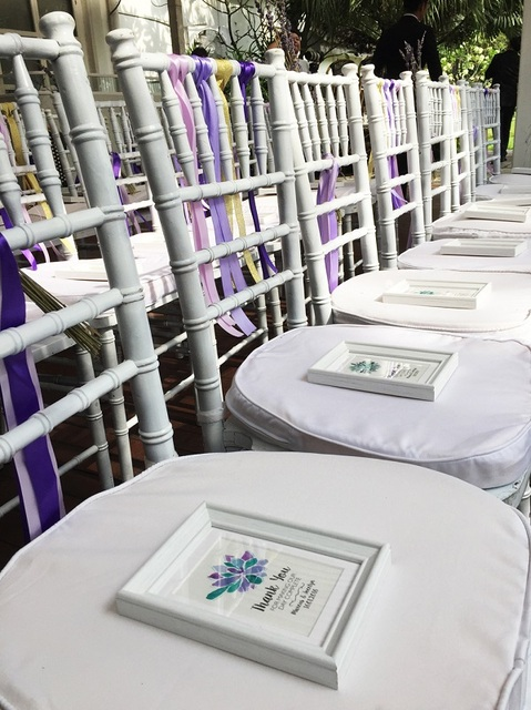 Purple & Succulents Garden Wedding