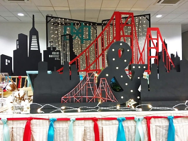 San Francisco Themed Wedding