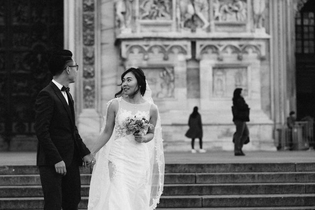 Engagement session in Milan and elopement in Florence