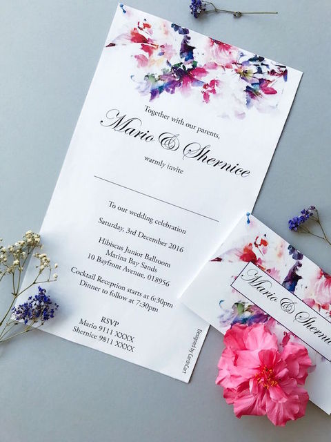 Wedding Invitations - Flower Design