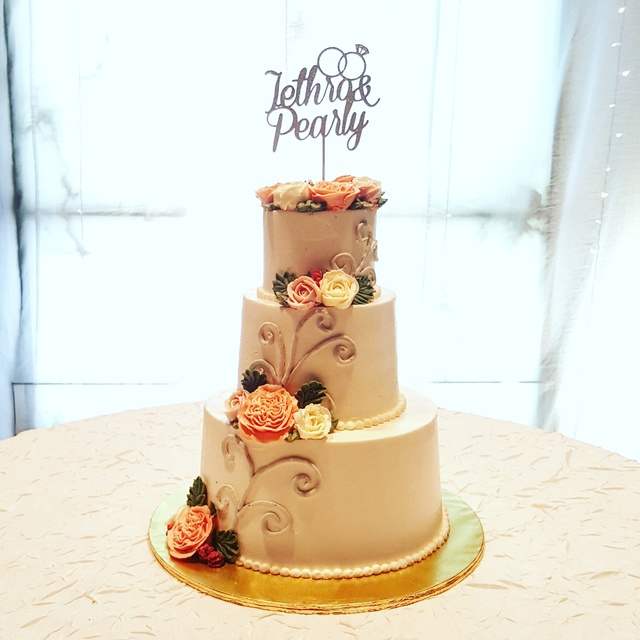 Highly Customised Wedding Cake
