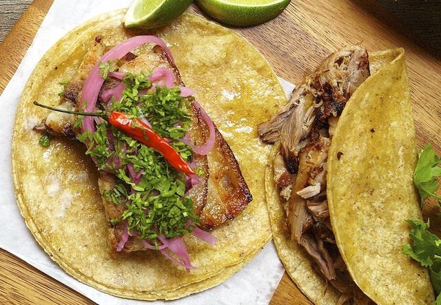 St taco pork belly carnitas