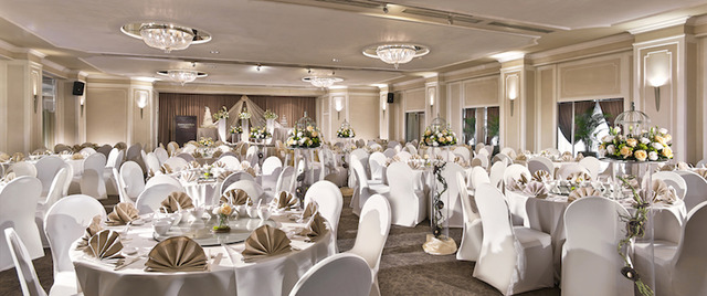 Tudor ballroom enchanted garden theme