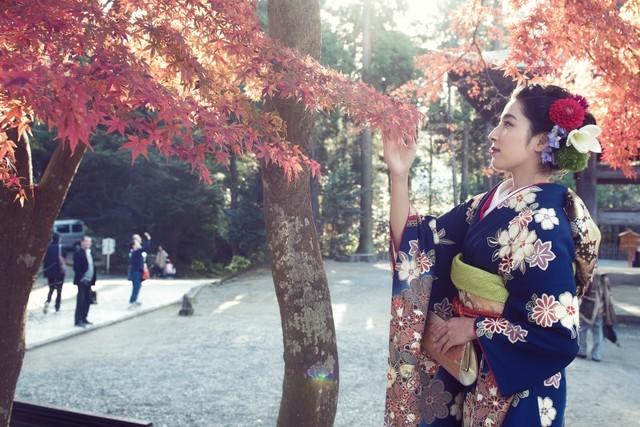 Kimono at Kamakura