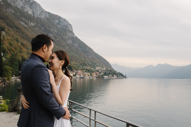 Wedding Proposal at Lake Como