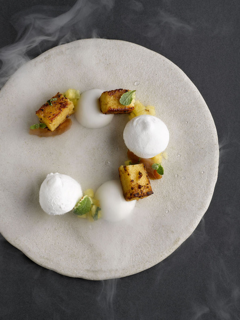 Pandan pain perdu.coconut.pineapple.lime