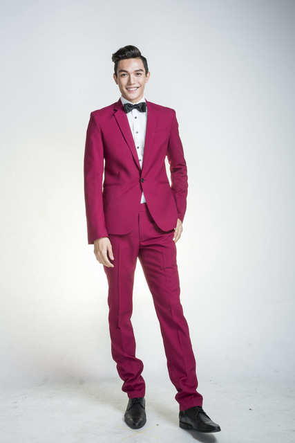 Maroon Colour Suit