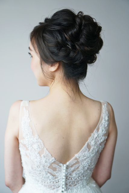Brides' Actual Day Hair and Makeup
