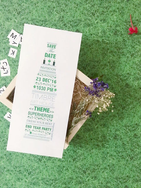 Wedding Invitations - Typography Design
