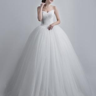 Princess Cut White Gown