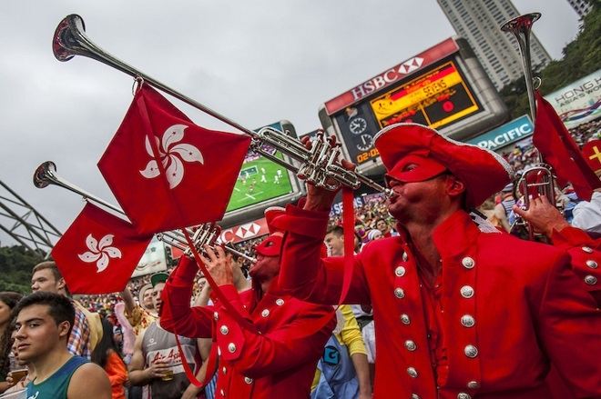 The South Stand is the home of the party at the HK7s