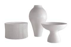 White Collection Vase & Stool by Marcel Wanders for B&B Italia