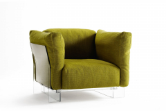 Pop Duo Armchair Transparent by Piero Lissoni with Carlo Tamborini for Kartell