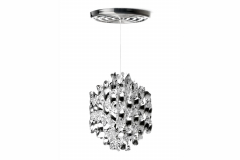 Spiral Small Suspension Lamp in Silver by Verner Panton for Verpan