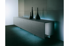 Ludwig Plus in Black Ash Sideboard by Lodovico Acerbis for Acerbis