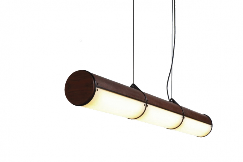 Woody Endless - 3 Units Suspension Lamp by Jason Miller for Roll & Hill