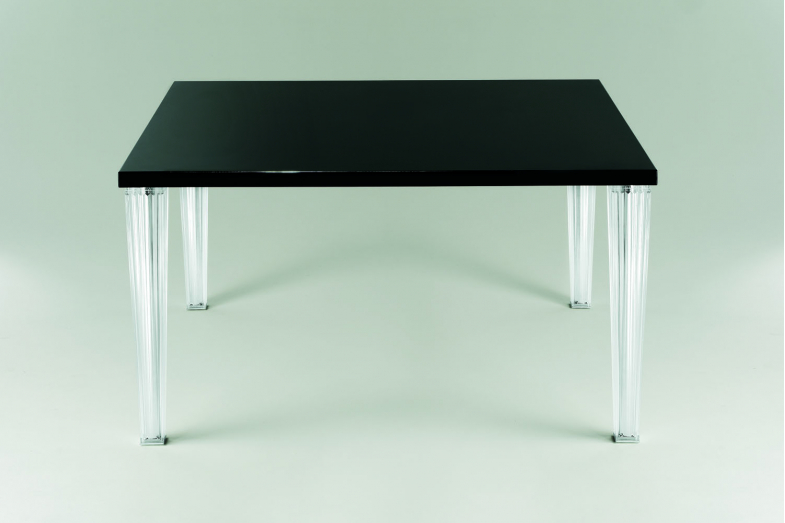 TopTop Dining Table with Large Glass Top by Philippe Starck with Eugeni Quitllet for Kartell