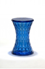 Stone Stool in Transparent Blue