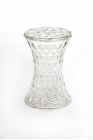 Stone Stool in Transparent Crystal