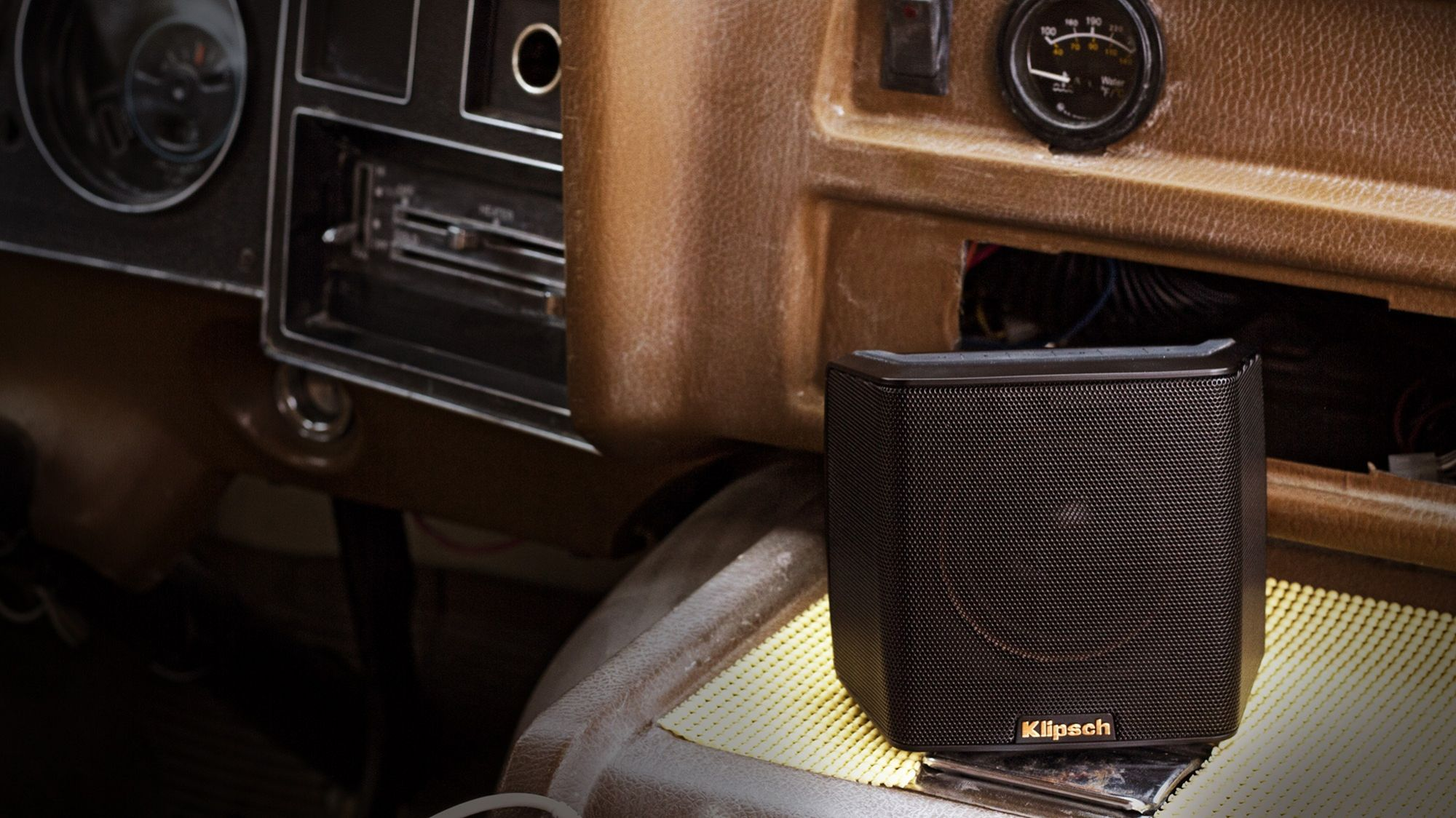 klipsch bluetooth speaker. keep the party going all night with groove\u0027s rechargeable battery lasting up to 8 hours on a single charge. additionally, it features durable, klipsch bluetooth speaker