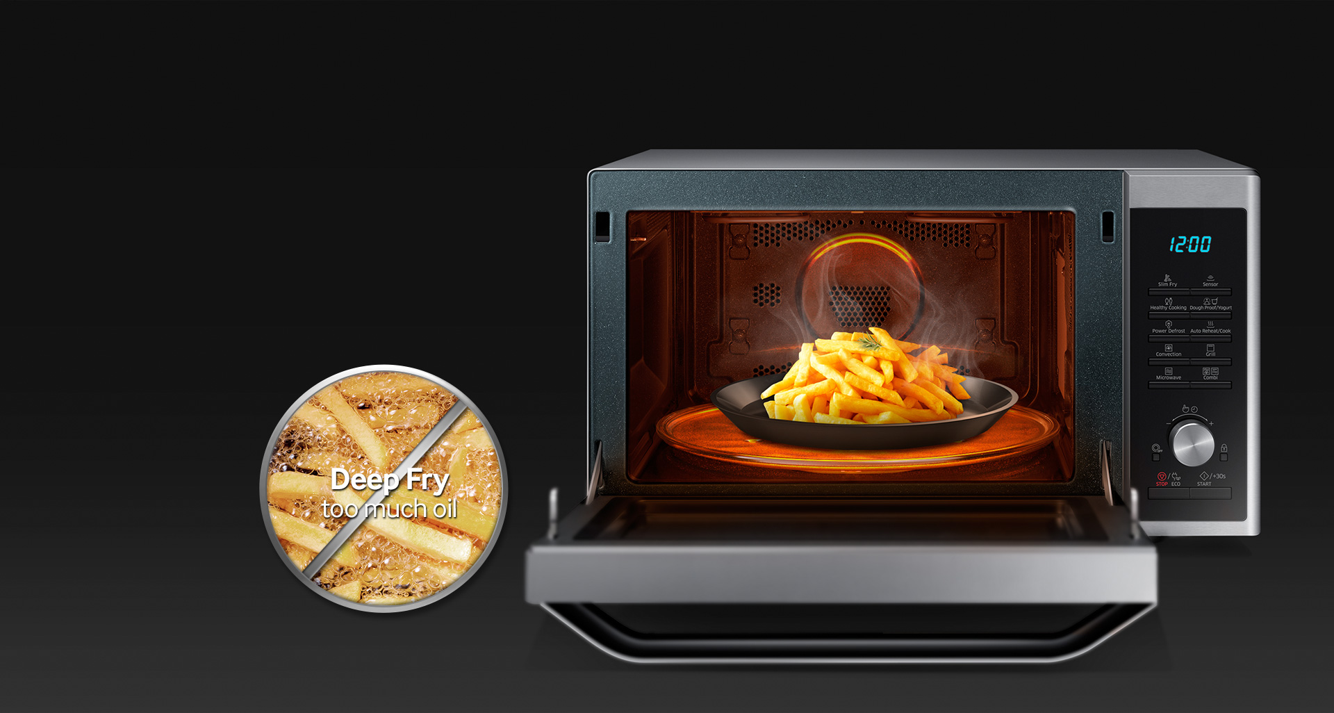 Samsung 32l Grill Convection Microwave With Smart Moisture