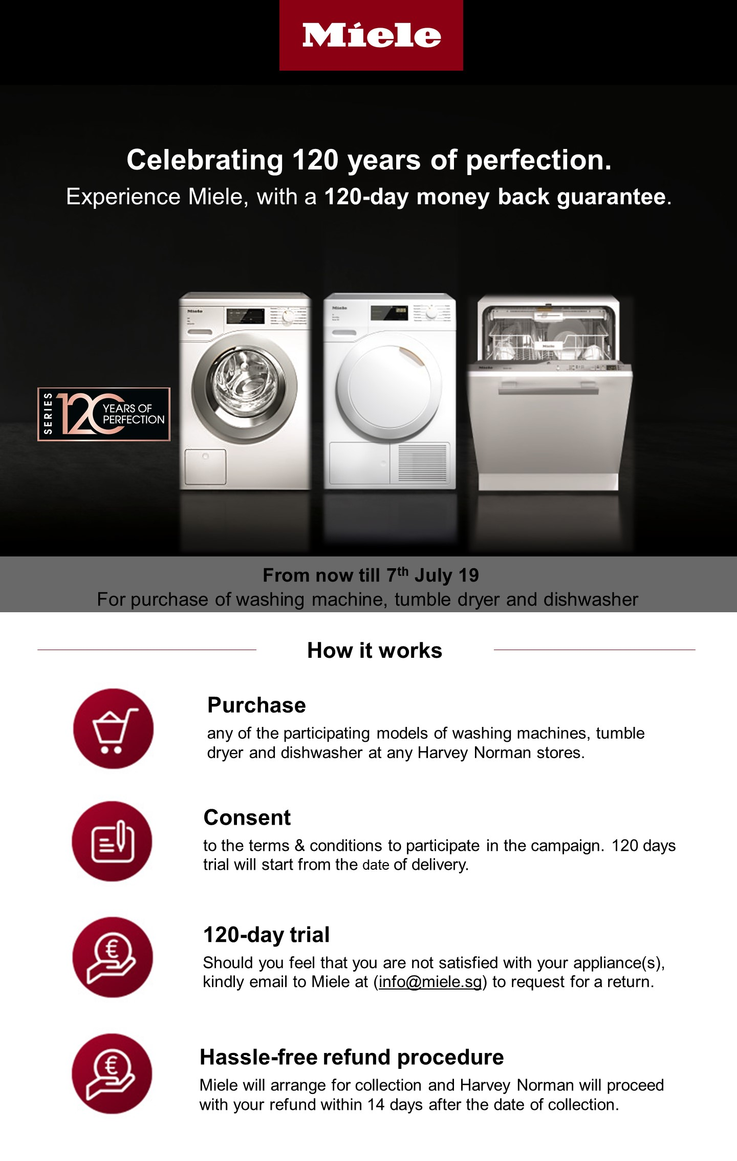 Miele 120 (7 June to 7 July 2019) | Harvey Norman Singapore