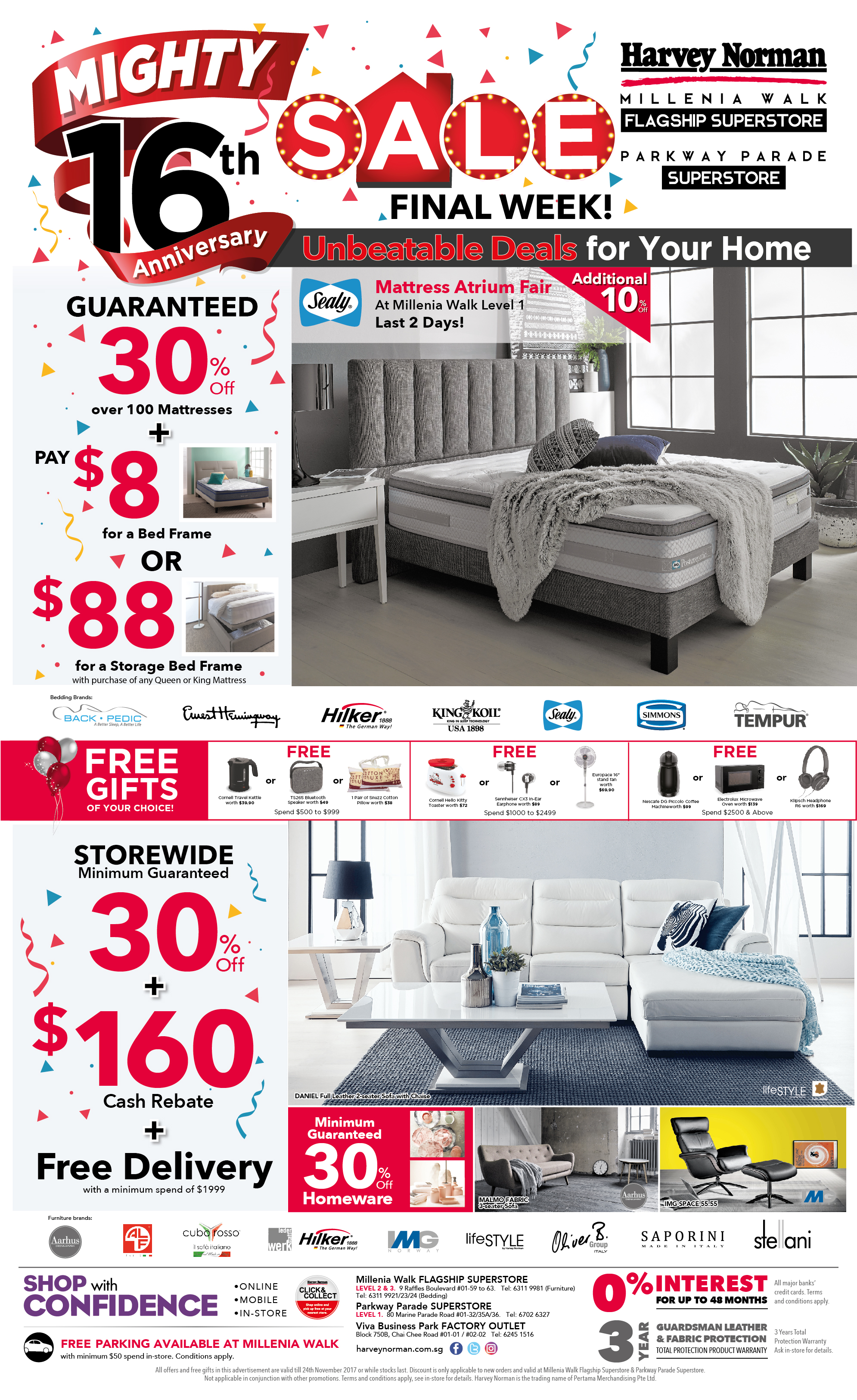 Press Advertisement Harvey Norman Singapore - Deepavali special at the green furniture offers valid while stocks