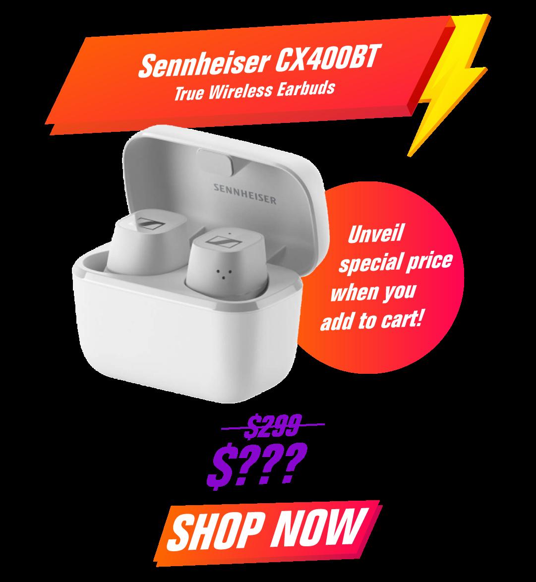 Sennheiser CX400BT True Wireless Earbuds - White