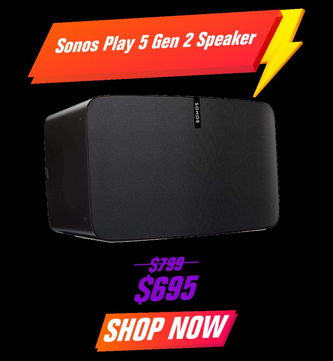Sonos Play 5 Gen 2 Speaker - White