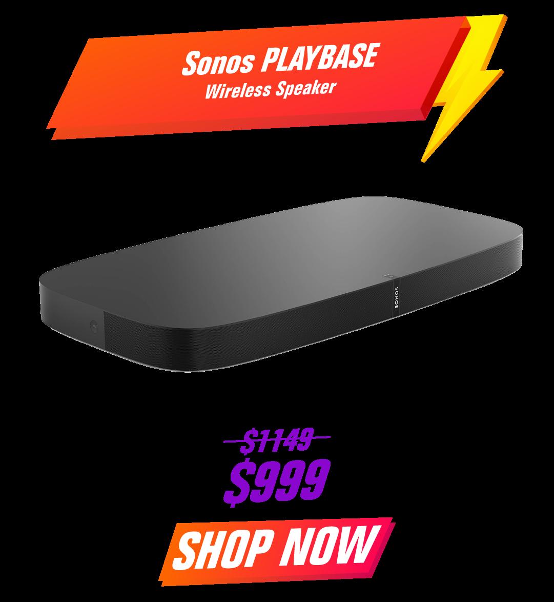 Sonos PLAYBASE Wireless Speaker - Black