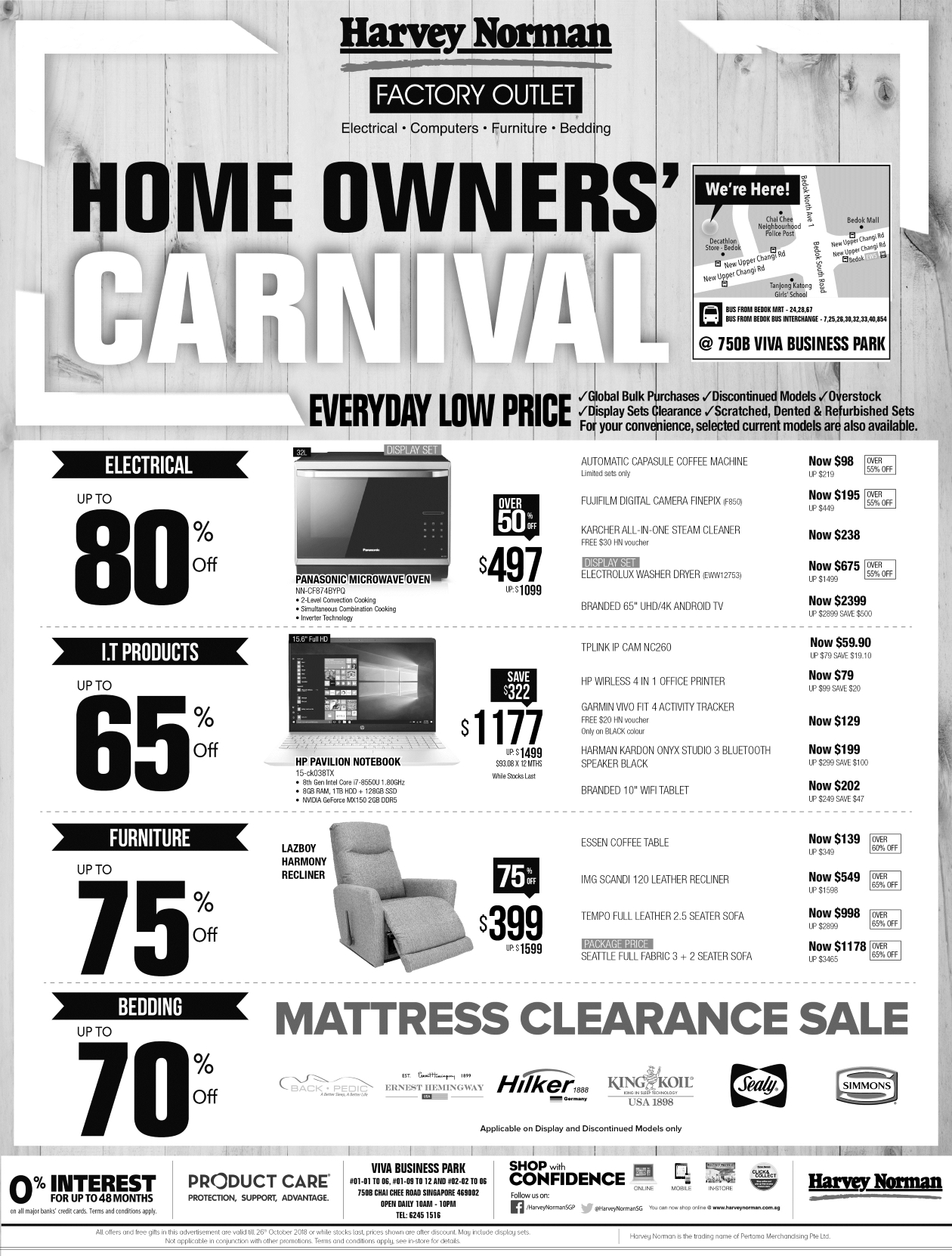 home owners carnival at harvey norman factory outlet