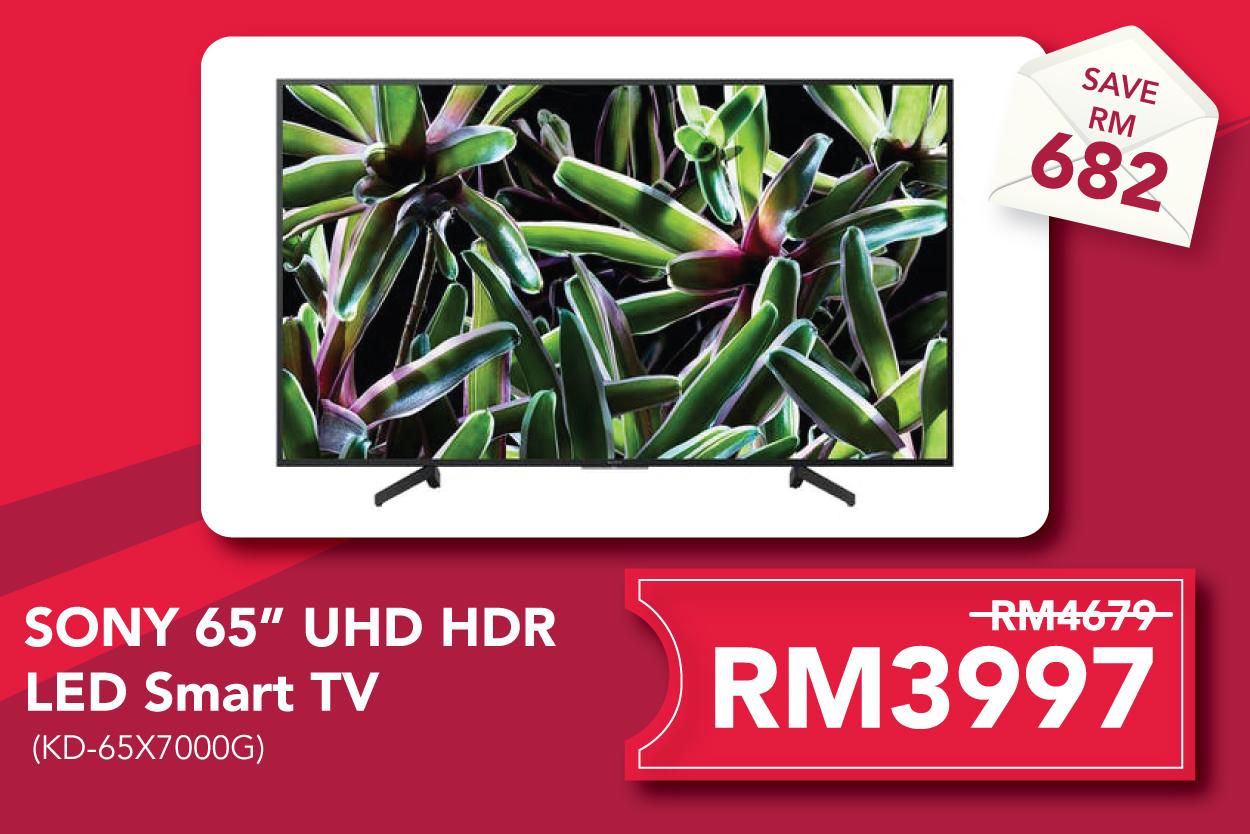 "Sony KD-65X7000G 65"" 4K Ultra HD HDR LED Smart TV"