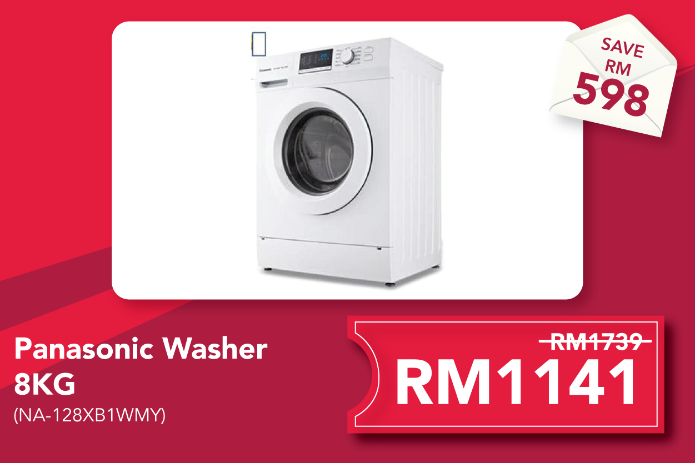 Panasonic NA-128XB1WMY 8kg Washing Machine