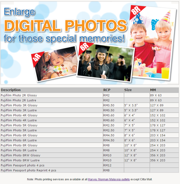 Digital Photo Prints Harvey Norman Malaysia