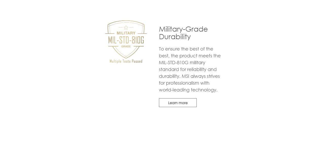 MSI MIL-STD-810G Testing