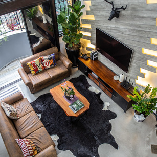 The Industrial Rustic Interior of this Apartment Creates a Warm and Funky Home