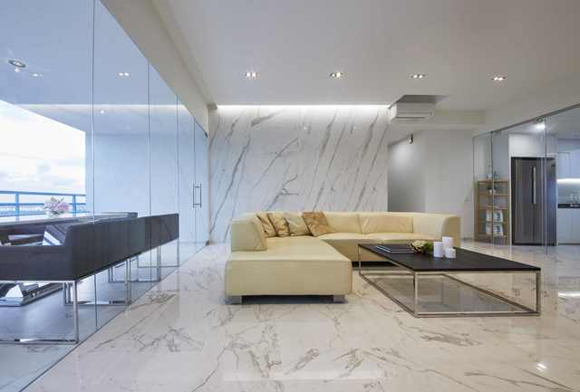 Marble feature living