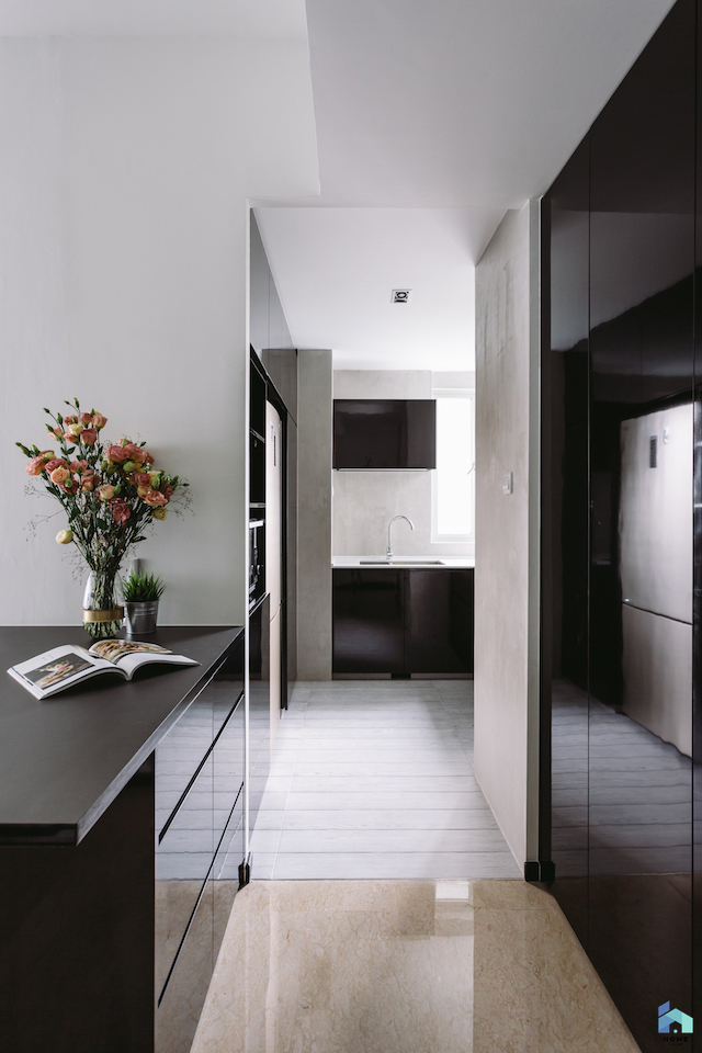 ... From Dark Colours, In Fact It Has Embraced Them, Featuring A High Gloss  Black Kitchen That Helps Reflect Light To Make The Space Seem Bigger And  More ...