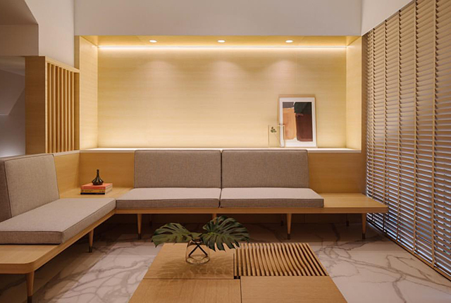 ... Assume Is The Television Console (where The Television Is Hid Behind A  Sliding Door). Definitely A Restful And Tranquil Place To Come Home To  Every Day.
