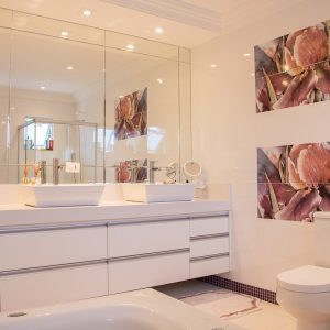 make your small bathroom look bigger