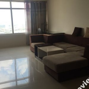 Saigon Pearl apartment for rent has an area of 140m2 of buildings Topaz 1